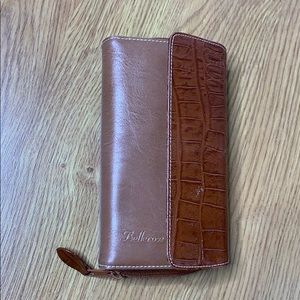 Bellerose Two Tone Tan Wallet Lots of Compartments